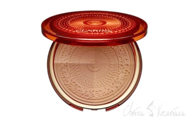 бронзирующая пудра Clarins Aquatic Treasures Summer Bronzing Compact