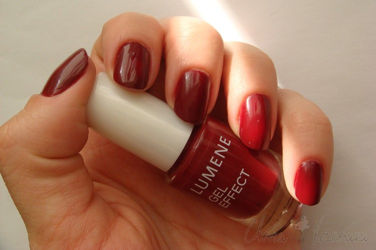 Свотчи Lumene Gel Effect оттенок Lingonberry Pulp