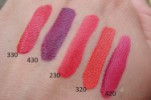 свотчи Estee Lauder Pure Color Envy Liquid Lip Potion 330 Lethal Red, 430 True Liar, 230 Whicked Sweet, 320 Cold Fire, 420 Fragile Ego.