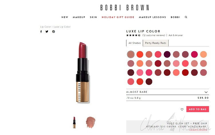 Помада Bobbi Brown коллекция 2015